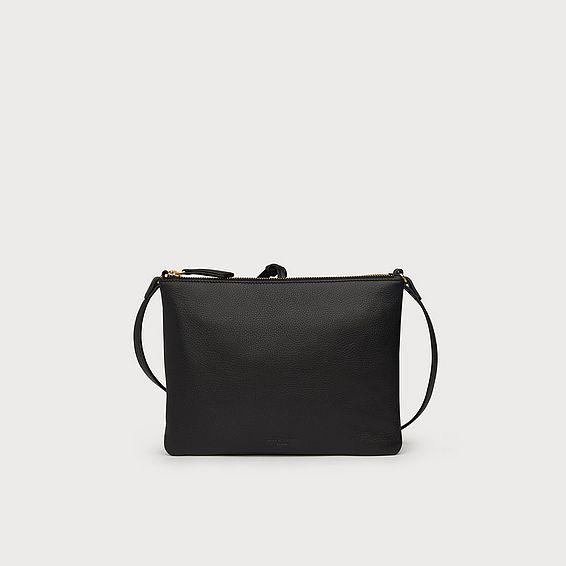 Benedetta Black Leather Crossbody