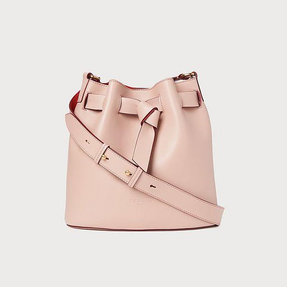 Gabrielle Pink Leather Shoulder Bag