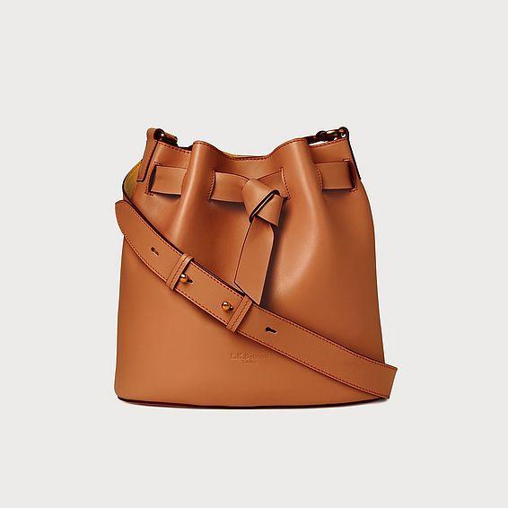 Gabrielle Tan Leather Shoulder Bag