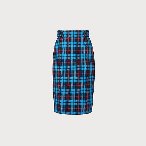 Miroe Blue Plaid Skirt