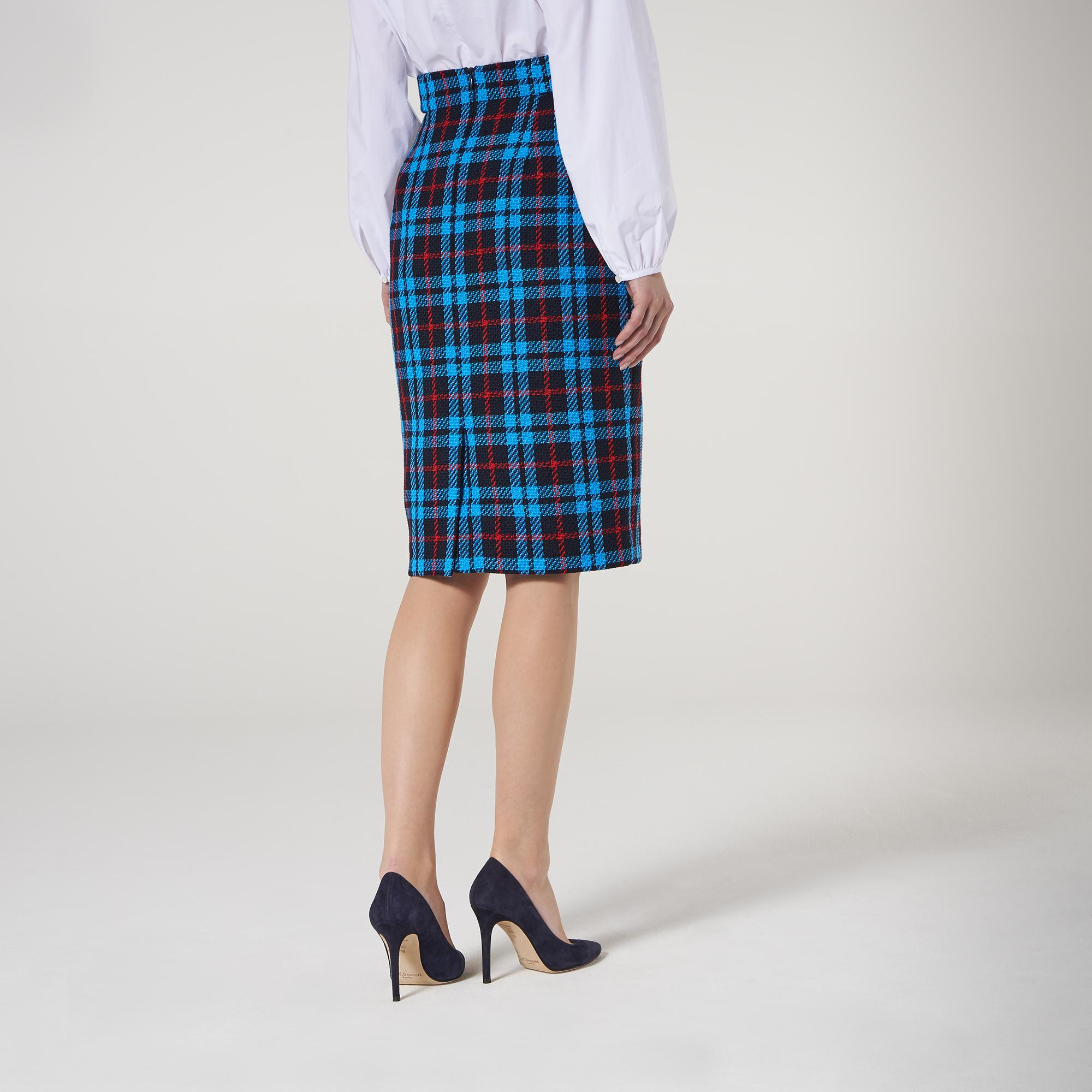 Miroe Blue Plaid Skirt New Arrivals Clothing Collections