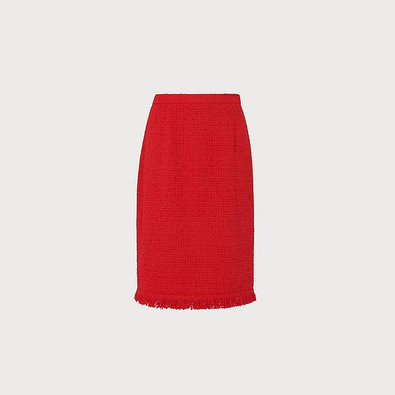 Myia Red Tweed Skirt