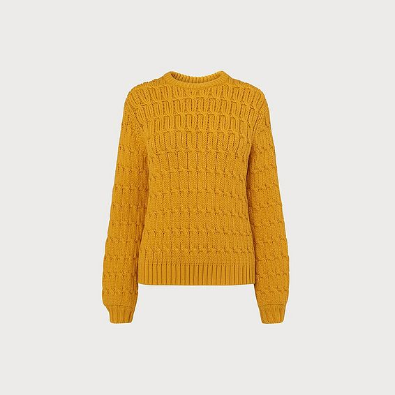 Alaska Yellow Cable Knit Sweater