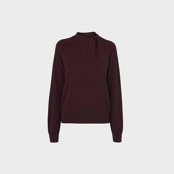 Elliott Wine Wool Cashmere Sweater