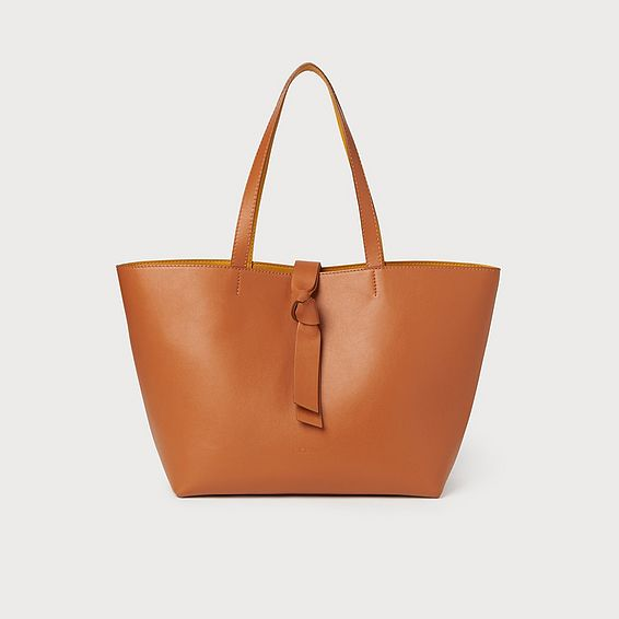 Georgia Tan Smooth Leather Tote