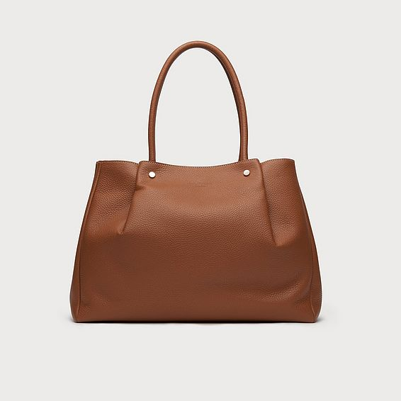 Regan Tan Grainy Leather Tote