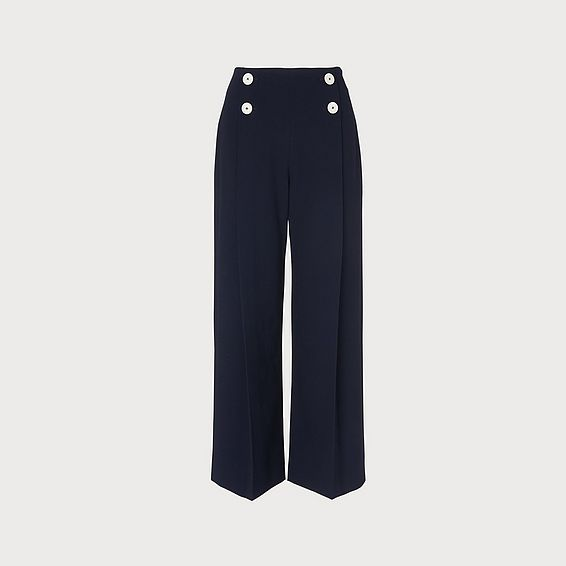 Parker Navy Wide Leg Pants