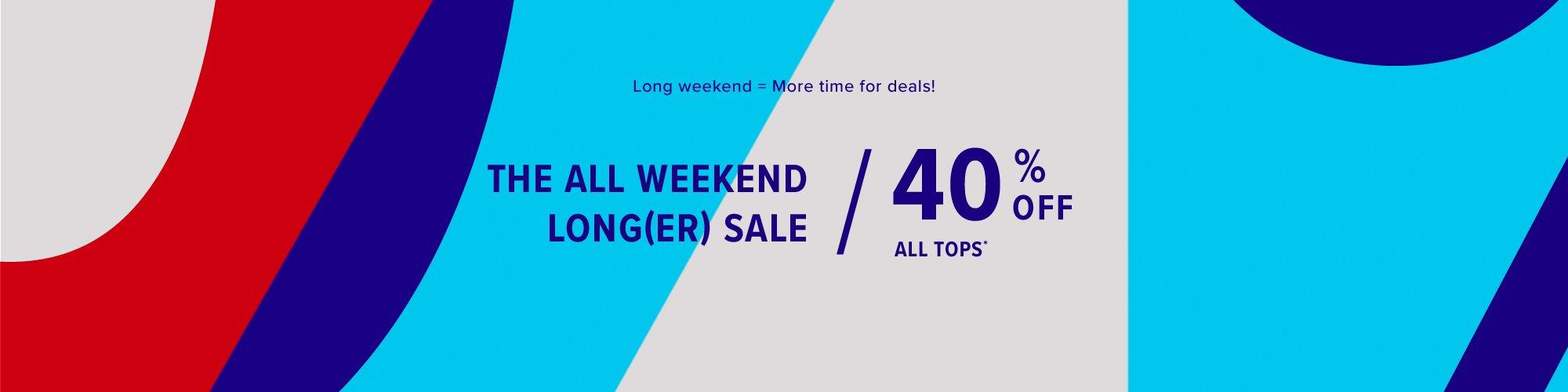 Presidents' Day Sale: 40% Off Tops & Outwear