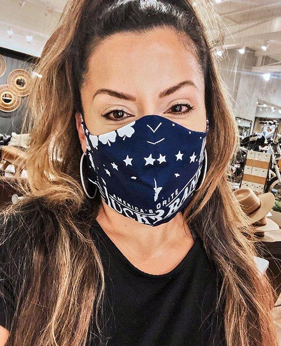 lucky brand associates making masks