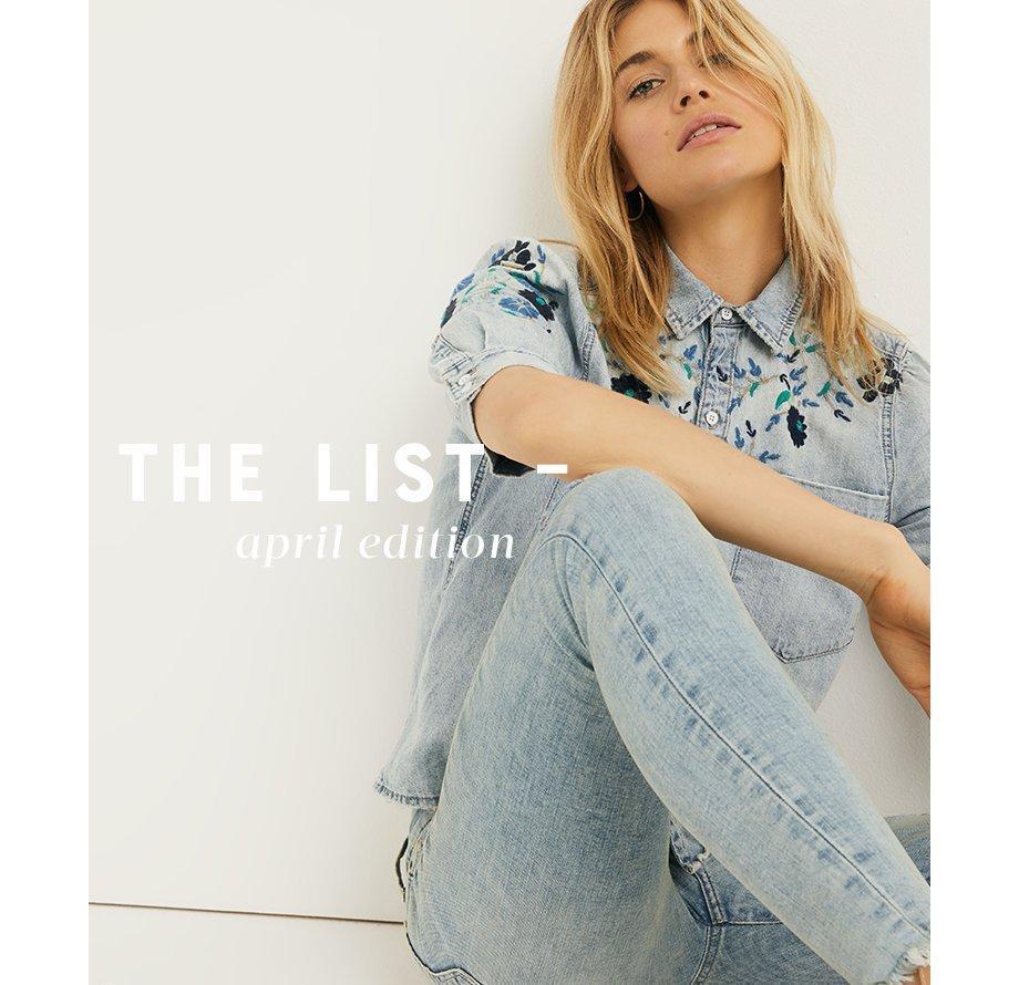 The List - April Edition