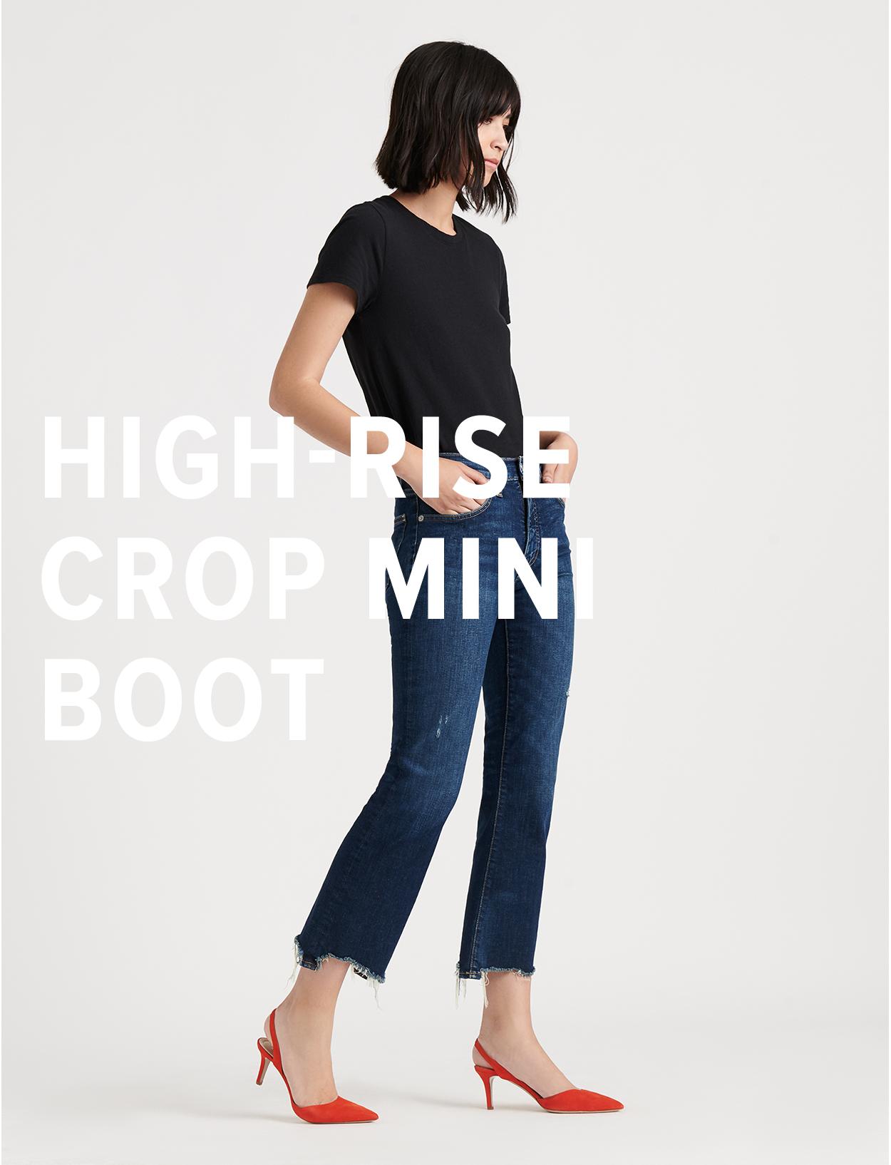 High Rise Crop Mini