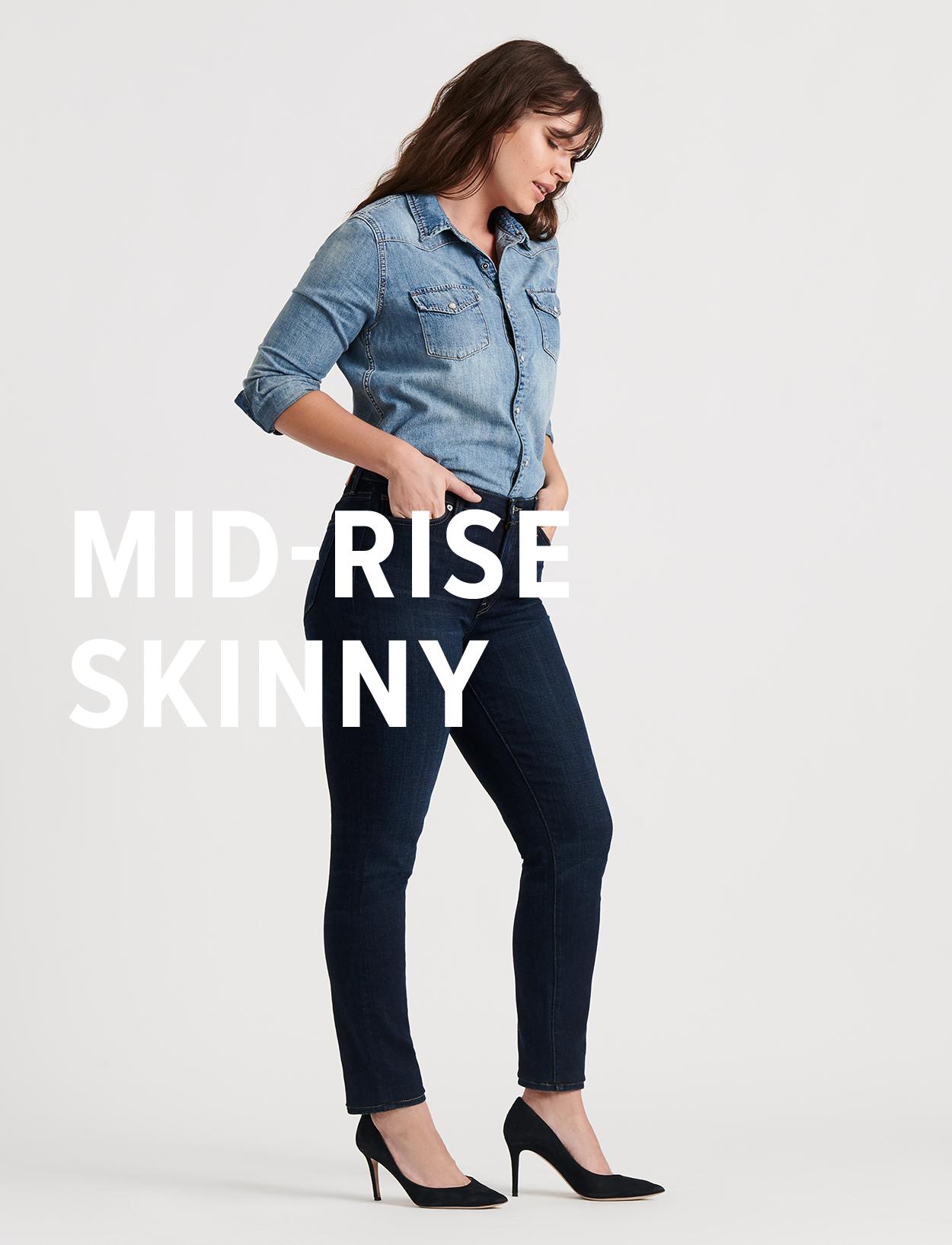 mid-rise skinny