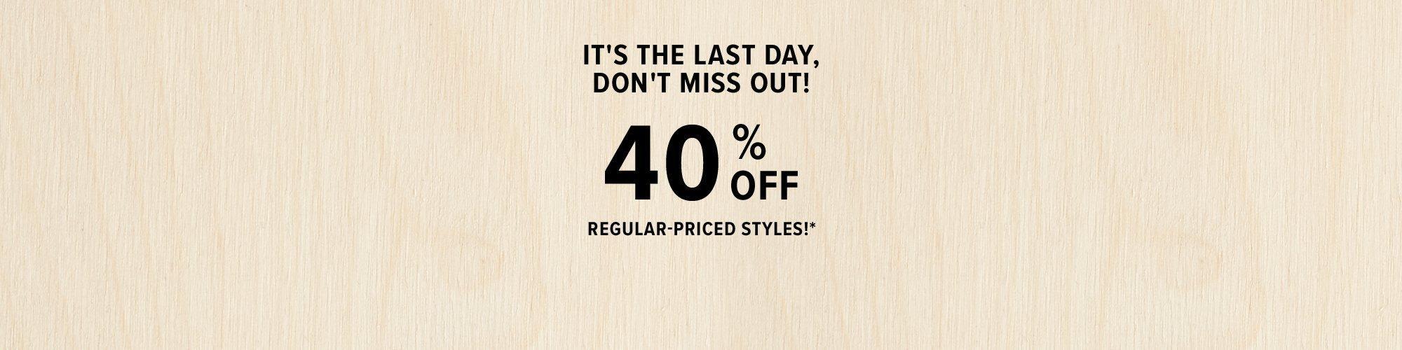 40% off sale