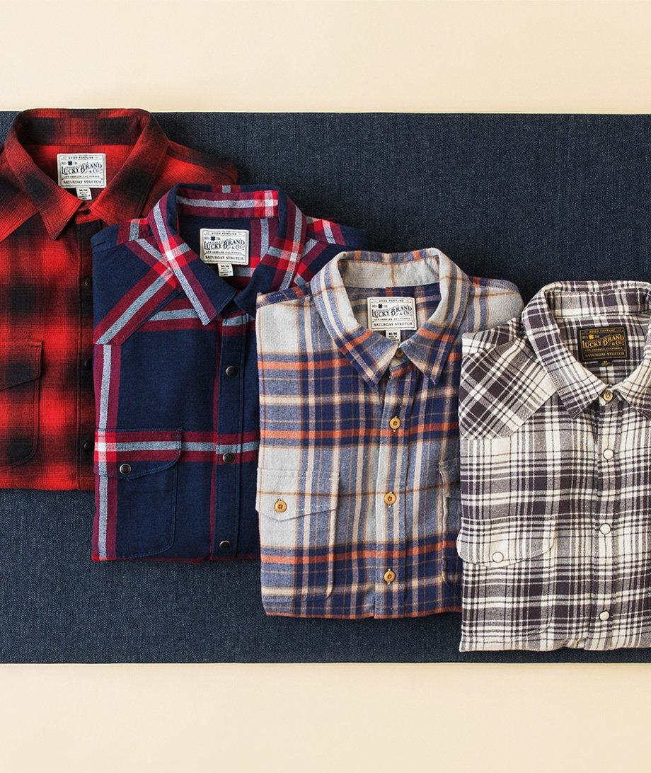 plaids and woven tops