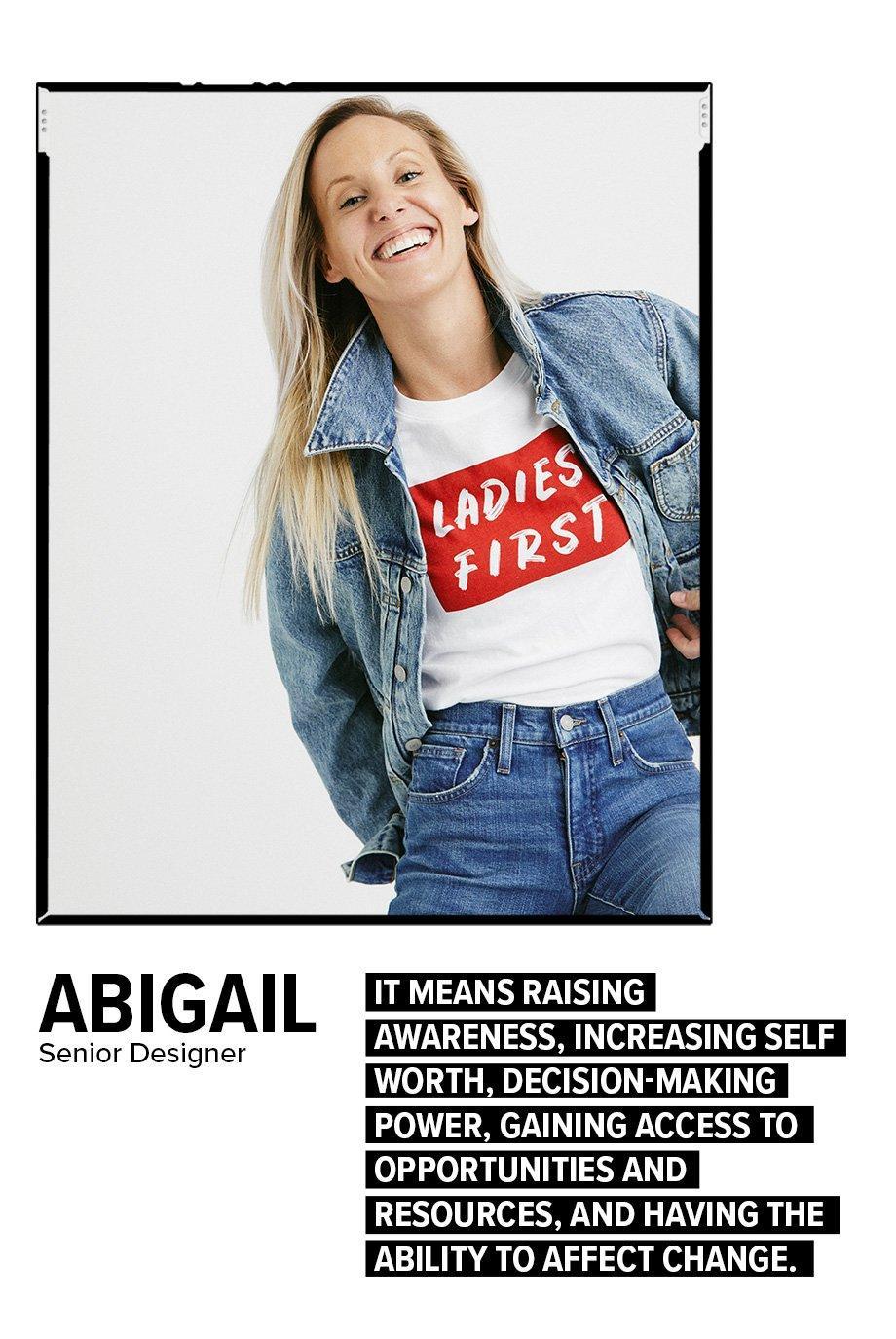 Abigail - Senior Designer