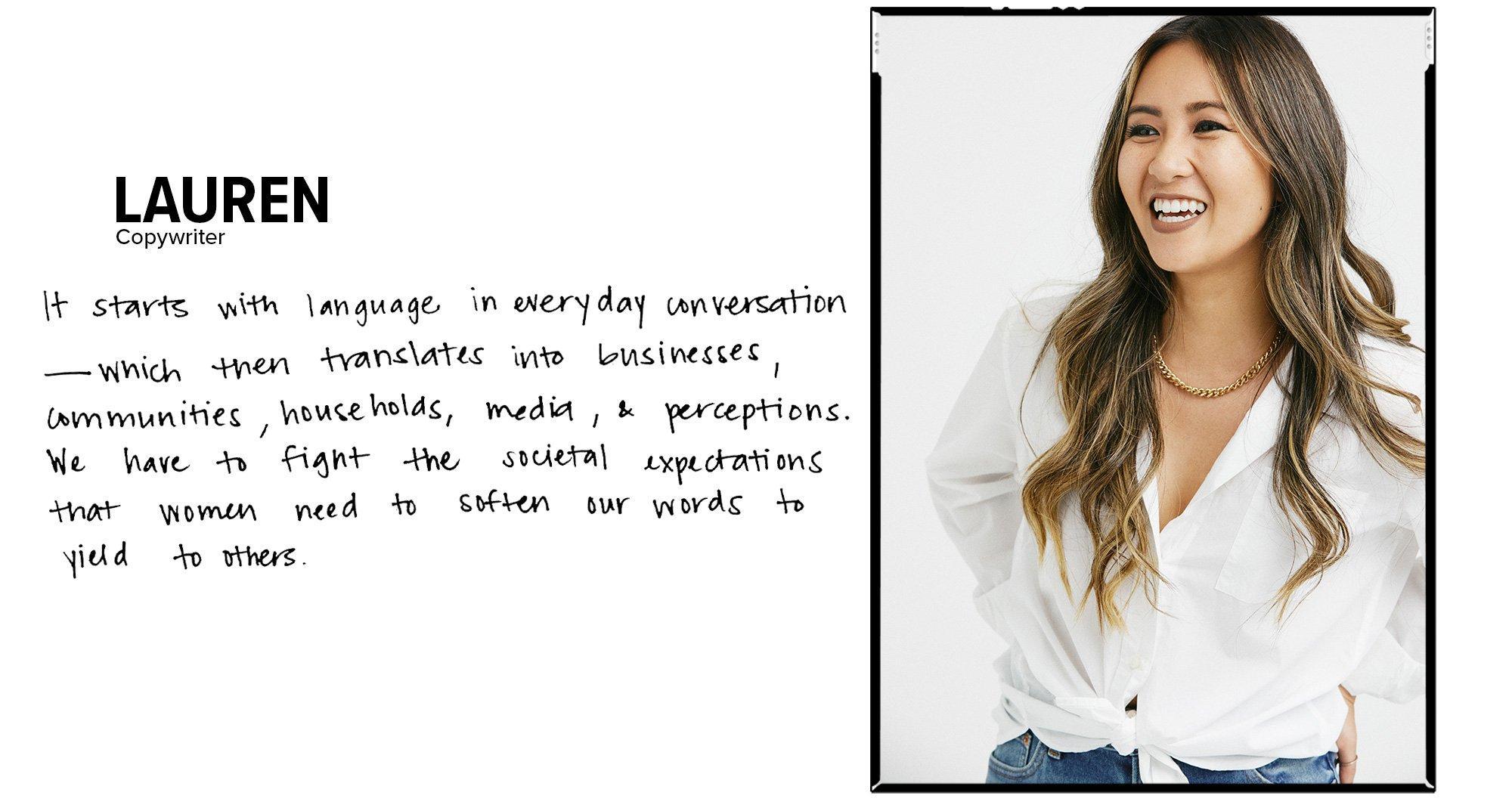 Lauren - Copy Writer