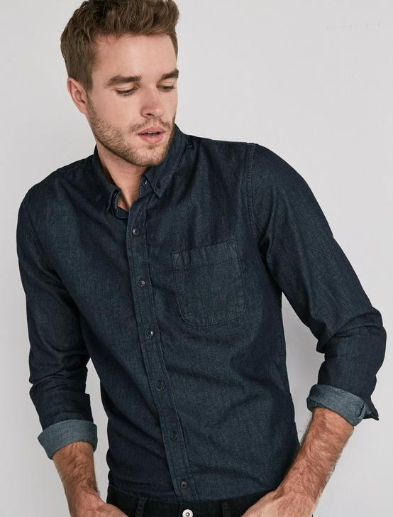 TAILORED DENIM SHIRT, TAILORED RINSE, productTileDesktop