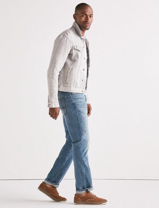 Lightweight Linen Denim Trucker Jacket, DALLAS, productTileDesktop