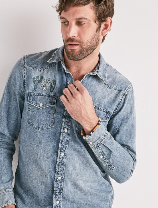 DENIM WESTERN SHIRT, CACTUS WEST, productTileDesktop