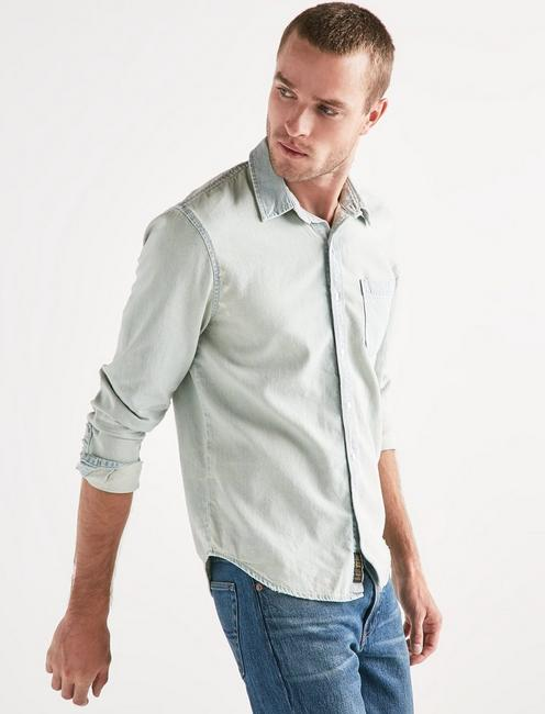 Lucky One Pocket Chambray Shirt