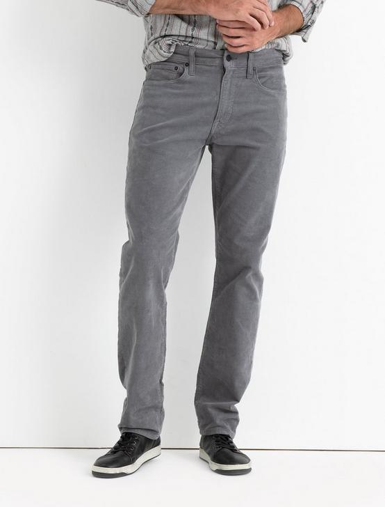 121 SLIM STRETCH CORDUROY JEAN, GARGOYLE, productTileDesktop