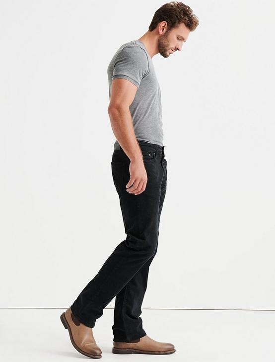 363 STRAIGHT STRETCH CORDUROY JEAN, #001 BLACK, productTileDesktop