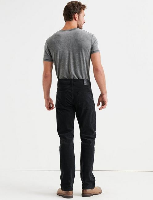 363 STRAIGHT STRETCH CORDUROY JEAN, #001 BLACK