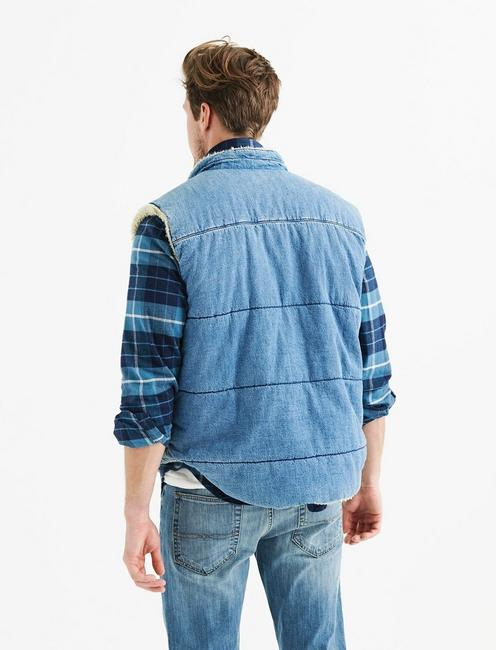 DENIM SHERPA VEST, FISHER