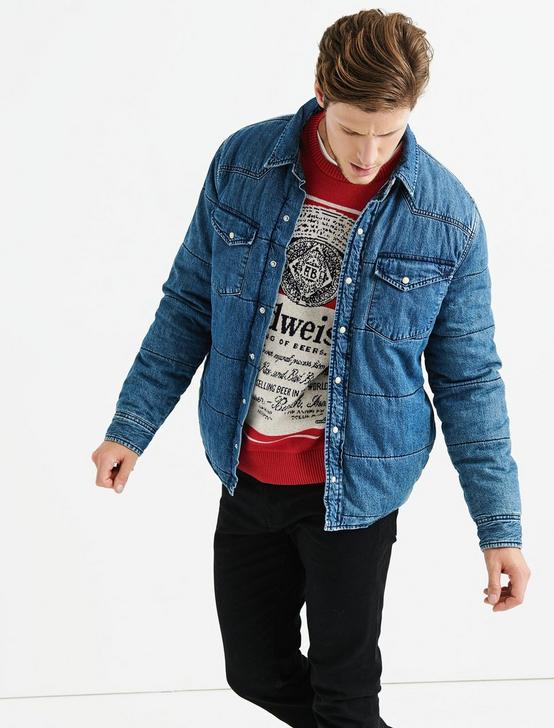 QUILTED DENIM SHIRT JACKET, DUDLEY, productTileDesktop