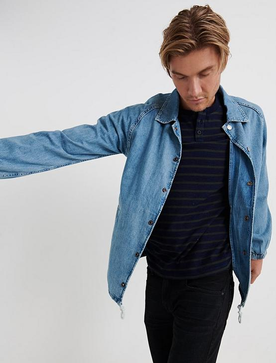 DENIM COACHES JACKET, YOUNG STRATFORD, productTileDesktop