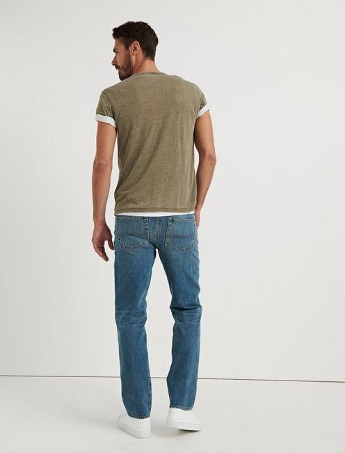 363 STRAIGHT VERTICAL STRETCH JEAN, REDWOOD