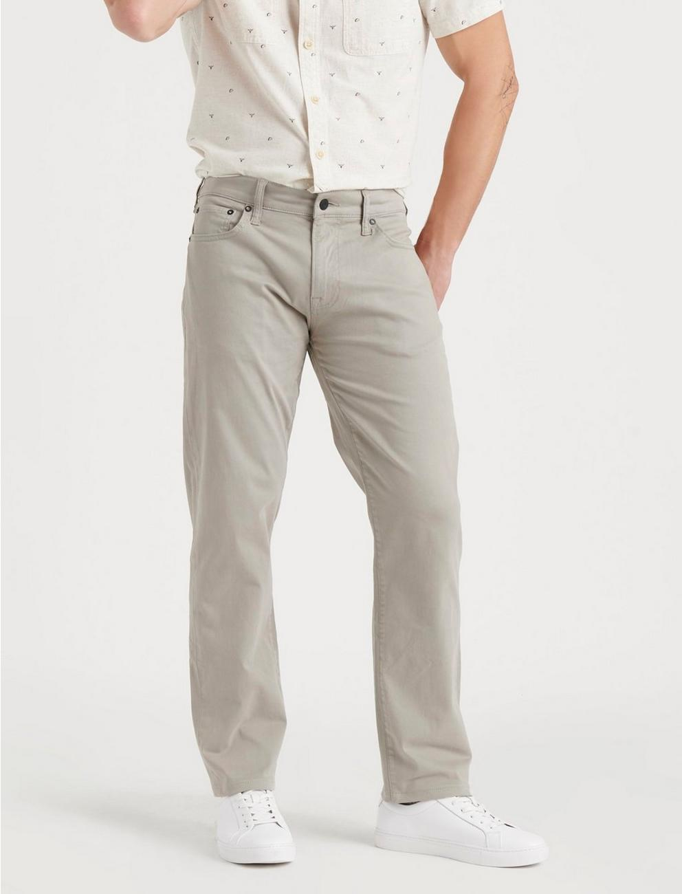 221 STRAIGHT STRETCH SATEEN JEAN, ROCKAWAY GREY