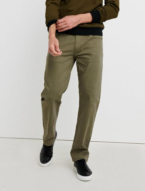 363 VINTAGE STRAIGHT SATEEN STRETCH JEAN, DUSTY OLIVE