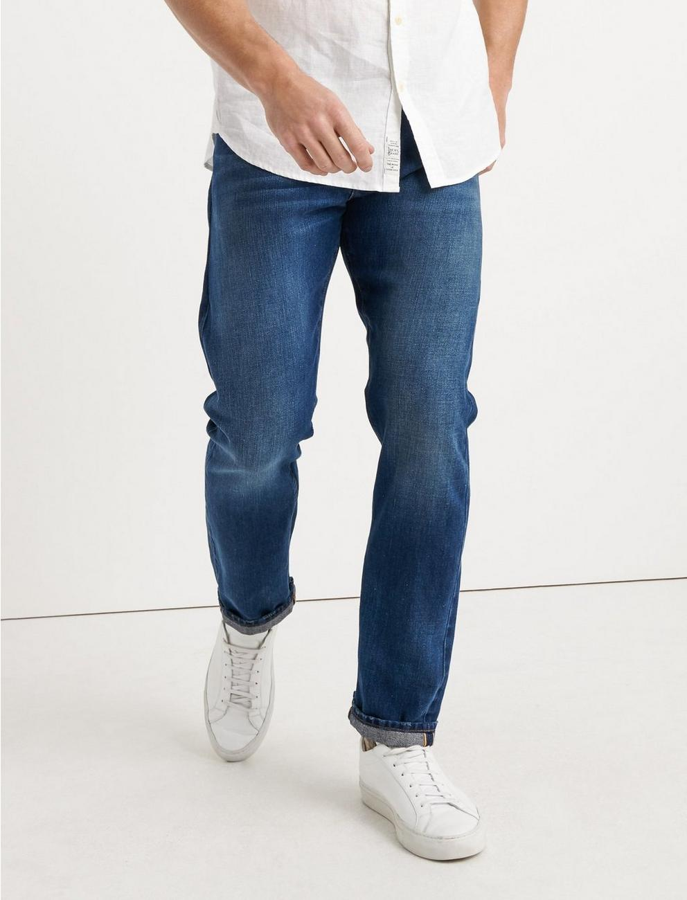 410 ATHLETIC SLIM SELVEDGE JEAN, ONE WASH