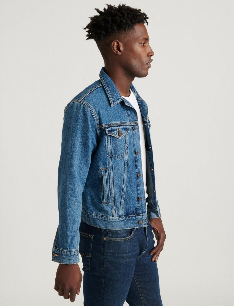 DARK BLUE TENCEL TRUCKER, MAYHOLLOW