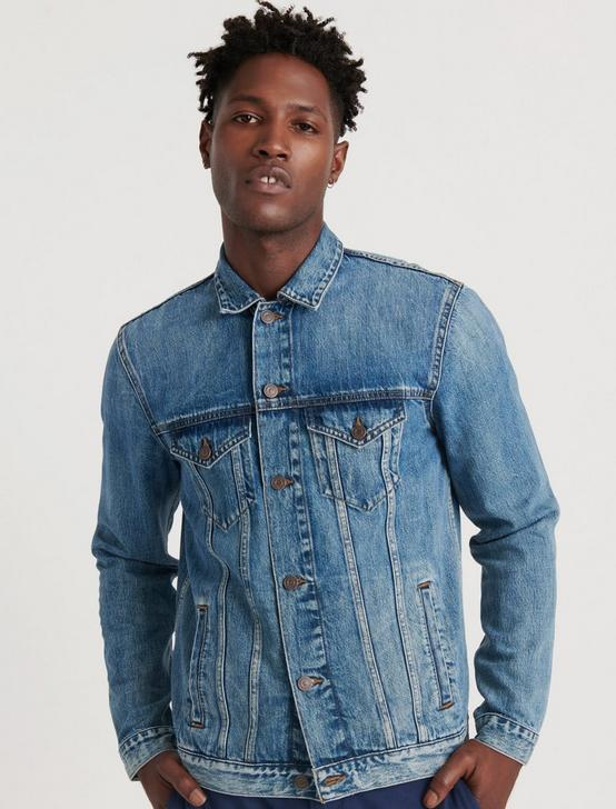 Medium Blue Tencel Trucker Jacket