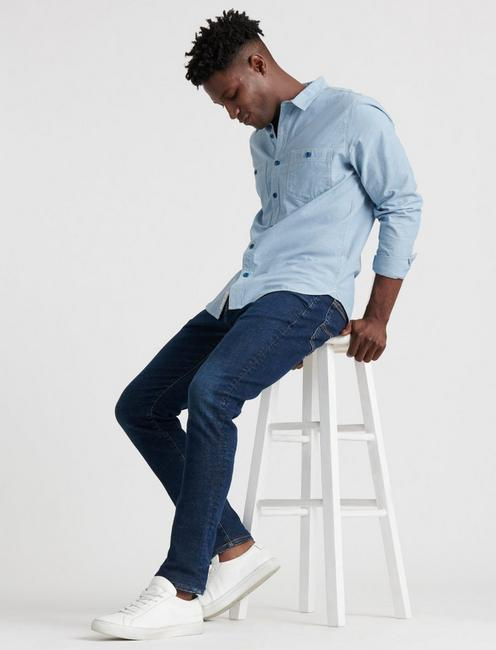 105 SLIM TAPER ADVANCED STRETCH JEAN, WRIGHT