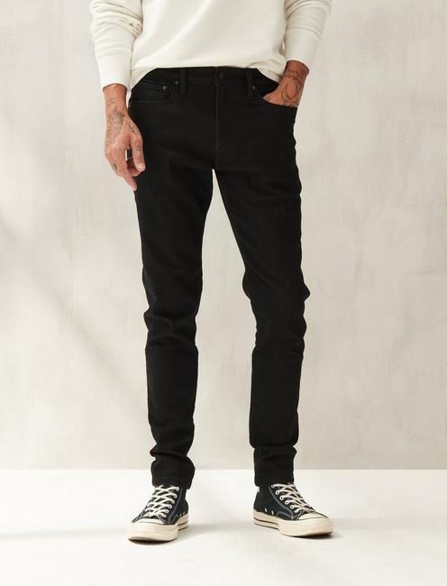 105 SLIM TAPER ADVANCED STRETCH JEAN, BLACK RINSE