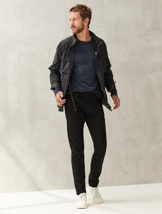 110 SLIM ADVANCED STRETCH JEAN, BLACK RINSE, productTileDesktop
