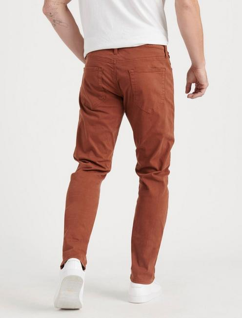 110 SLIM SATEEN STRETCH JEAN, RUST