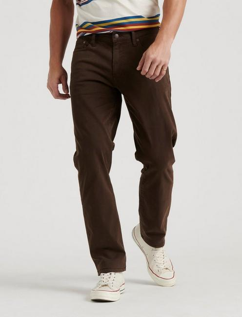 410 ATHLETIC SLIM SATEEN STRETCH JEAN, WALNUT