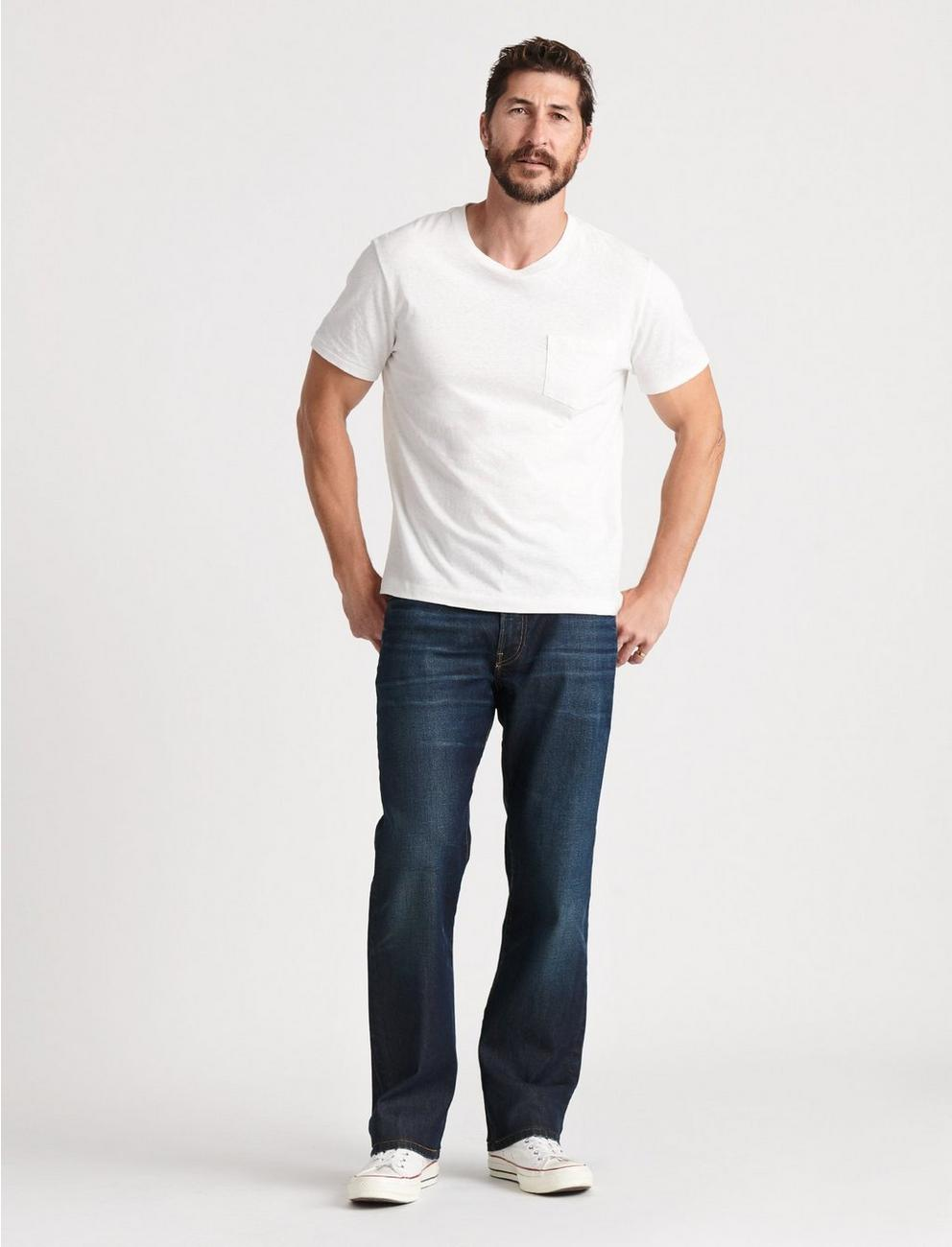 181 RELAXED STRAIGHT STRETCH JEAN, PERSHING