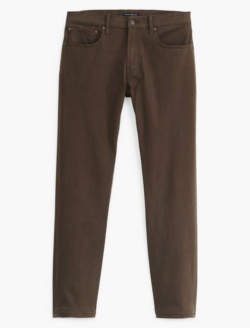 223 STRAIGHT SATEEN STRETCH JEAN, WALNUT