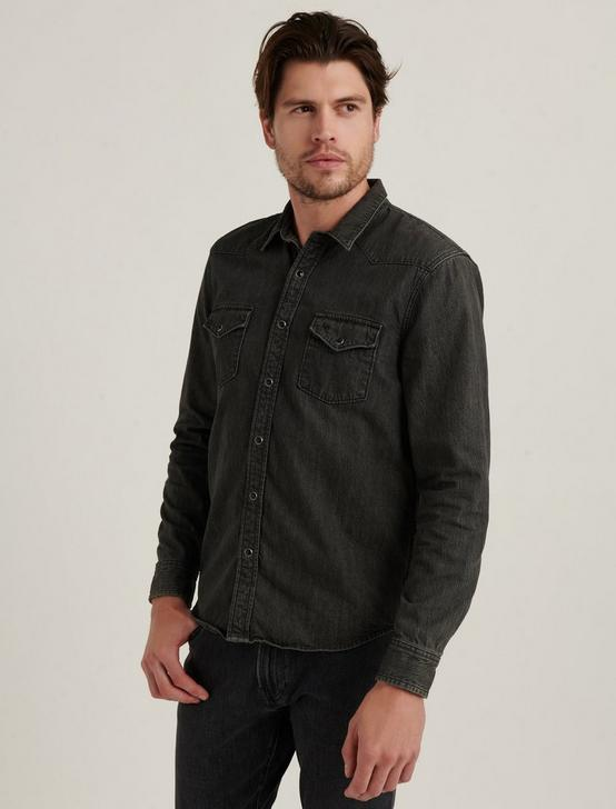 DENIM WESTERN SHIRT, VISTA GREY, productTileDesktop