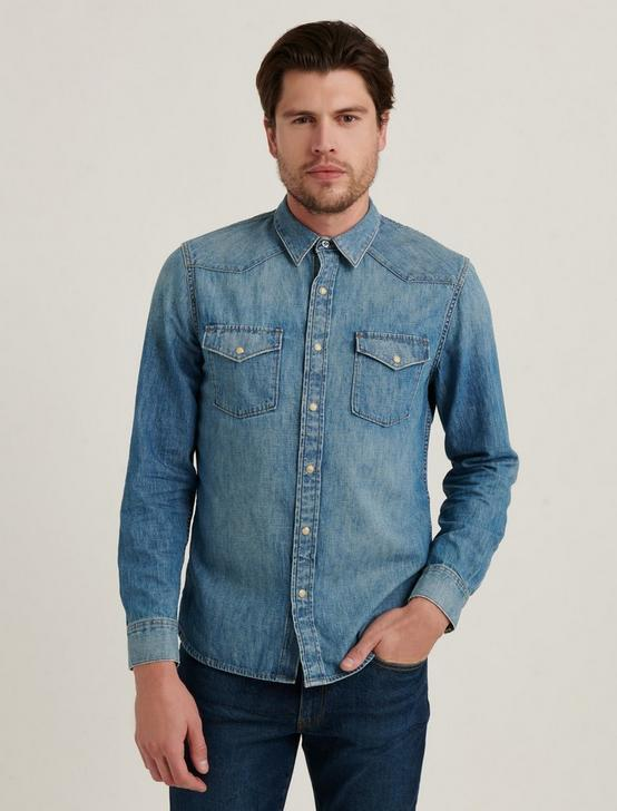 DENIM WESTERN SHIRT, BUNK, productTileDesktop
