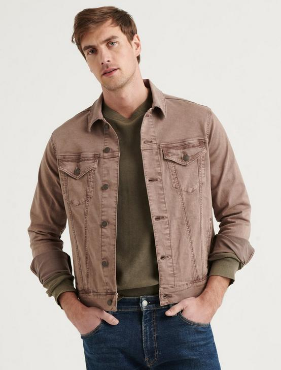 THE SATEEN TRUCKER JACKET, BERRY ASH, productTileDesktop