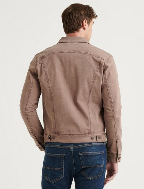 THE SATEEN TRUCKER JACKET, BERRY ASH
