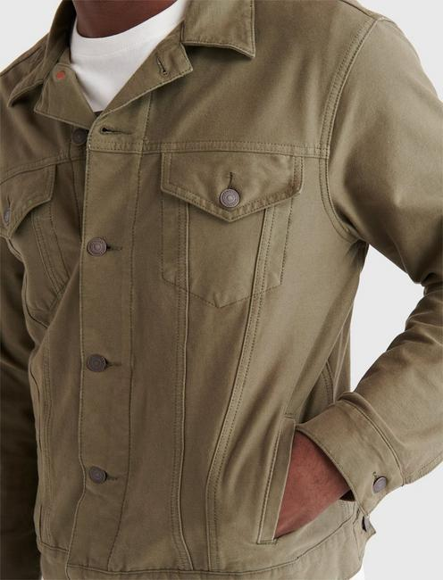 THE TRUCKER JACKET, OLIVE NIGHT