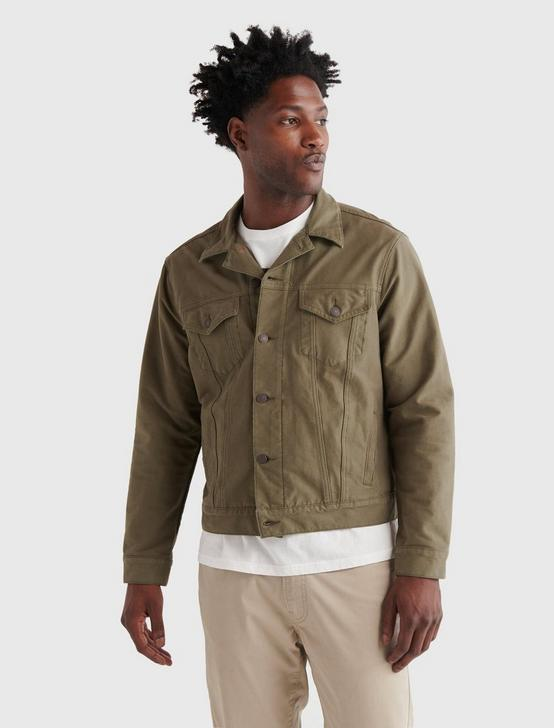 THE TRUCKER JACKET, OLIVE NIGHT, productTileDesktop