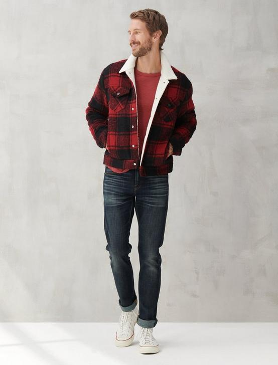 WOOL TRUCKER JACKET, CEDAR, productTileDesktop